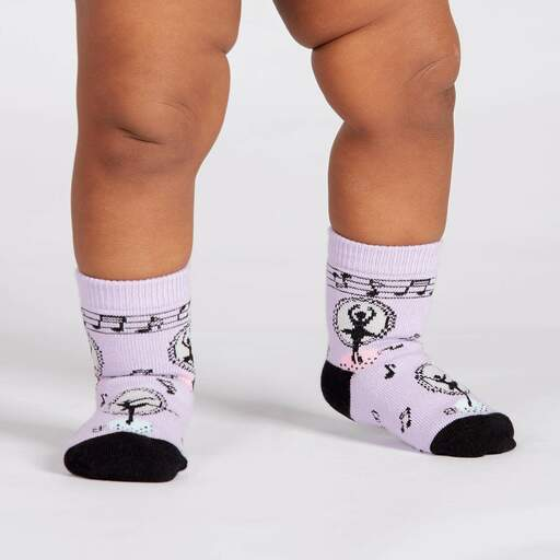 model wearing Tiny Dancer - Dancer Crew Socks Pink - Toddler